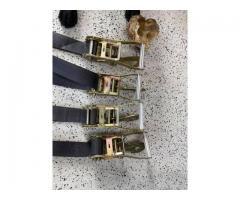 Set of 4 Lightly Used Ratcheting Straps